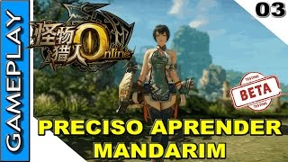 MONSTER HUNTER ONLINE GAMEPLAY - Explorando o jogo, interface, coleta e craft