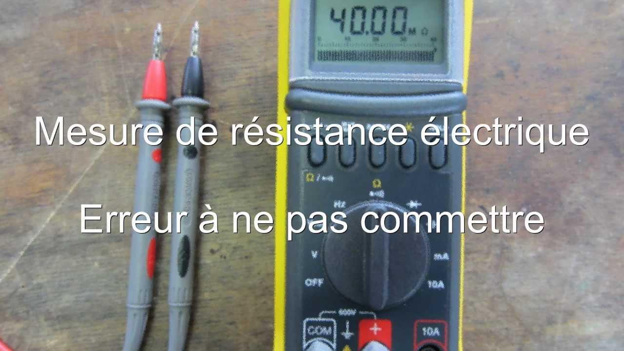 Froid99 mesure de r sistance lectrique erreur ne pas for Tester une resistance de chauffe eau