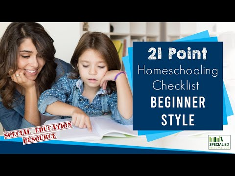 21-point-homeschooling-checklist- -part-one- -special-education-parenting-tips
