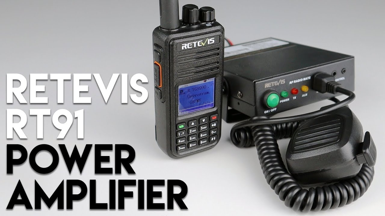 Increase Your Two Way Radio's Power With The Retevis RT91! 30 Watt  Amplifier!