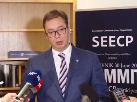 Dubrovnik: Vučić i Grabar Kitarović o bilateralnim odnosima i ekonomskoj saradnji