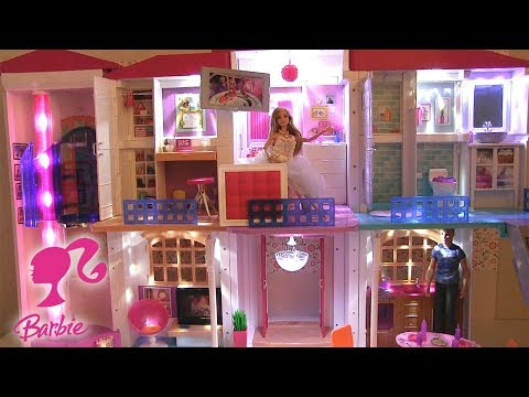 barbie maison de r ve hello dreamhouse maison de poup es. Black Bedroom Furniture Sets. Home Design Ideas