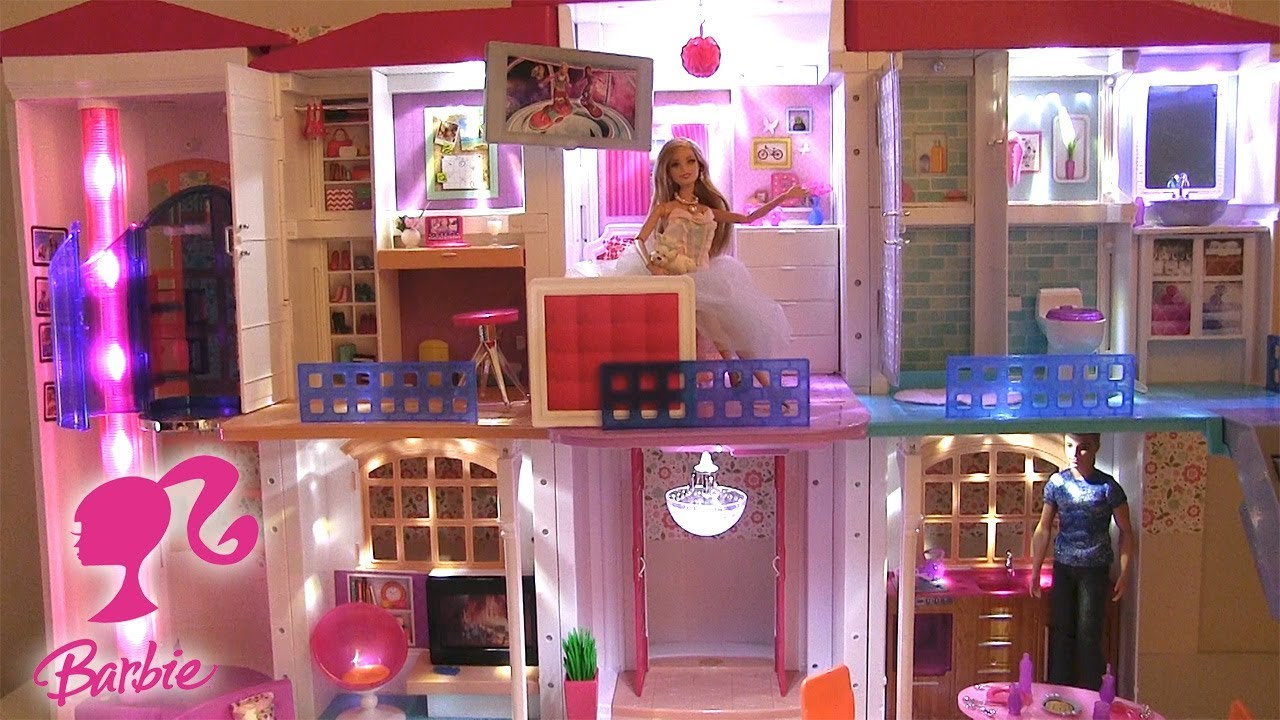 barbie maison de r ve hello dreamhouse maison de poup es youtube. Black Bedroom Furniture Sets. Home Design Ideas
