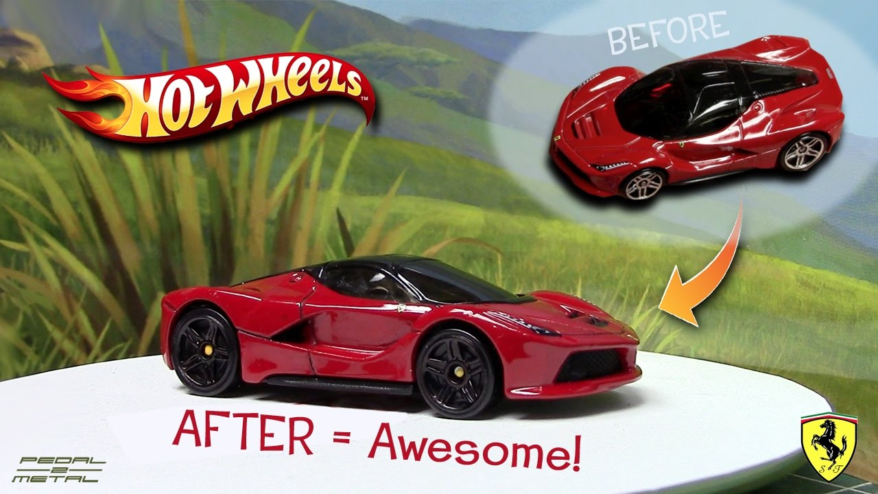 Detailing Hot Wheels Fabulous Ferrari Laferrari Diy Fun Youtube