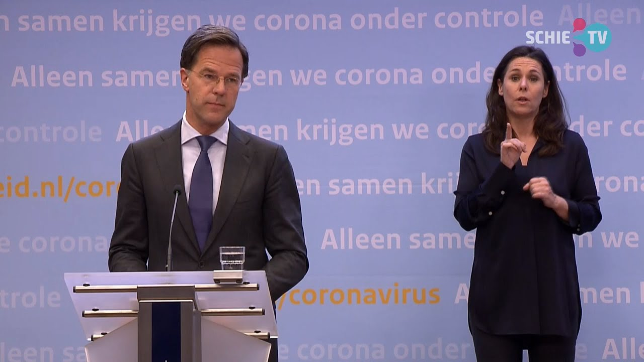 SCHIE TV: Persconferentie Mark Rutte En Hugo De Jonge Over