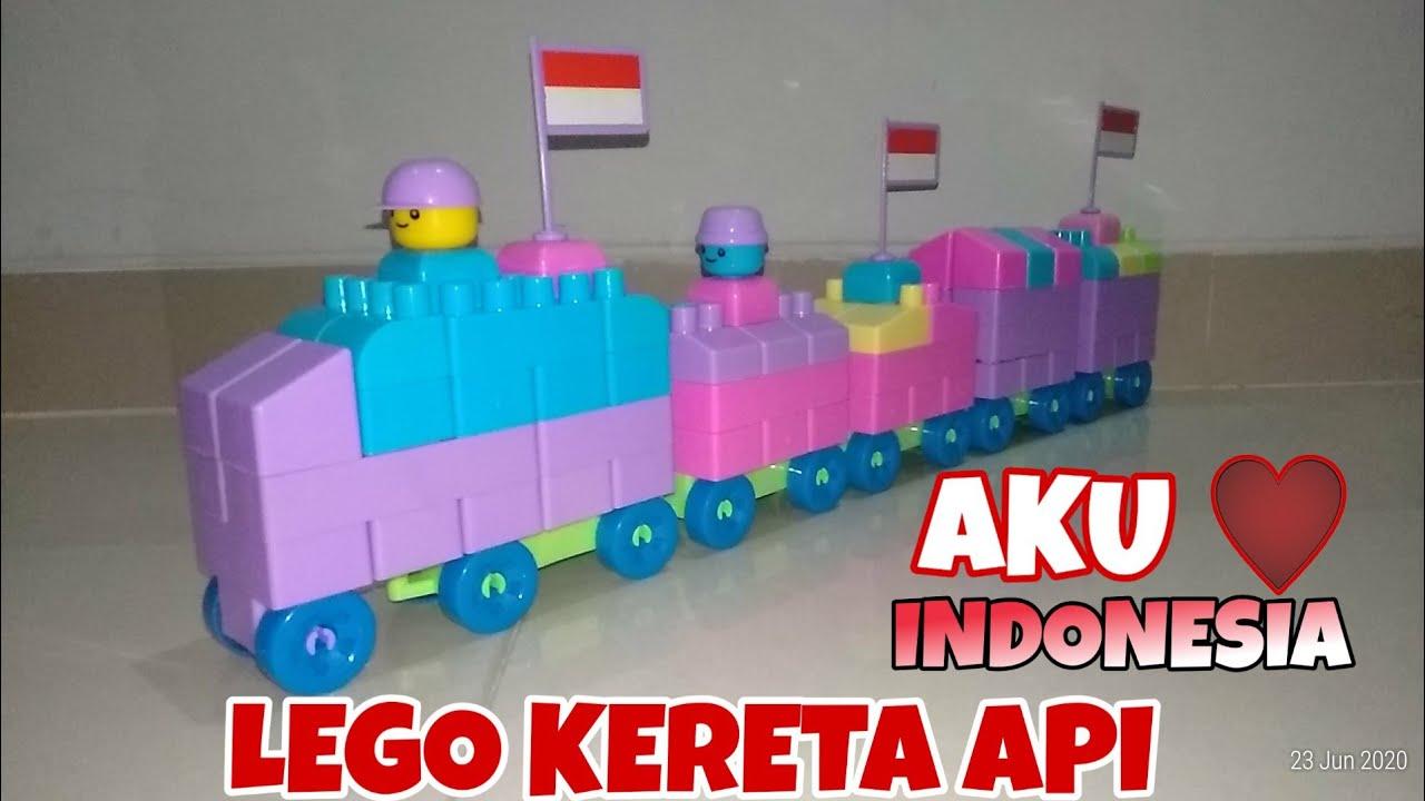 CARA MEMBUAT KERETA API DARI LEGO BLOCK | Train ride ...