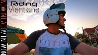 My New Bike | Riding around the Streets of Vientiane Laos | Now in Lao Daily Life in Laos
