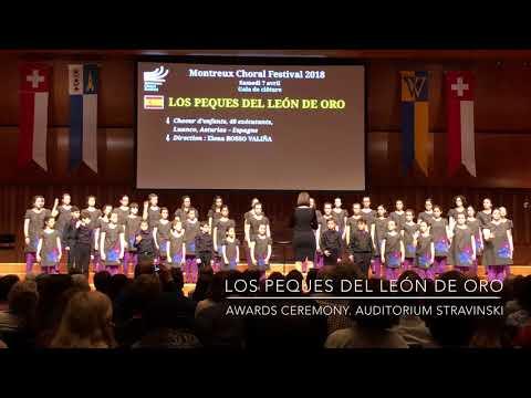 Los Peques del León de Oro. Awards Ceremony. Montreux Choral Festival (4)