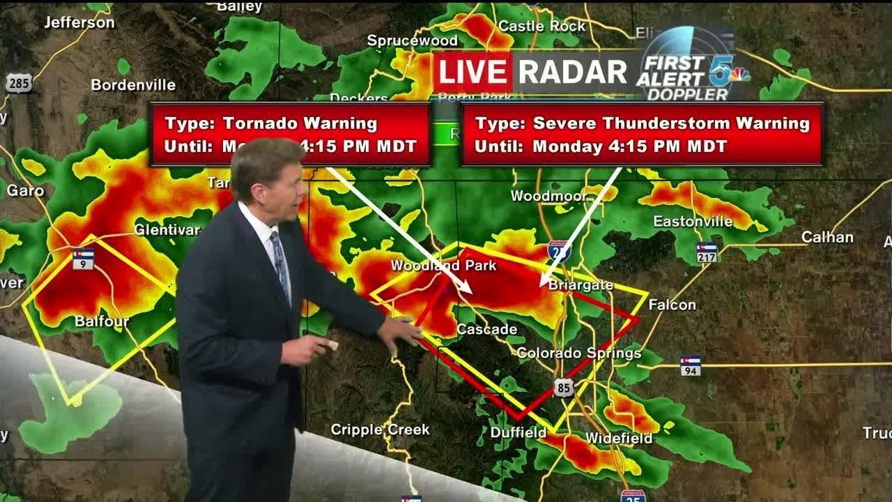 Tornado Warning issued in El Paso Co
