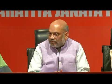 Press Conference by Shri Amit Shah at BJP Head Office, New Delhi: 15.05.2019