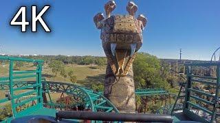 Cobra's Curse front seat on-ride 4K POV Busch Gardens Tampa
