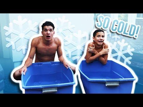 ICE BATH CHALLENGE! ft Little Bro