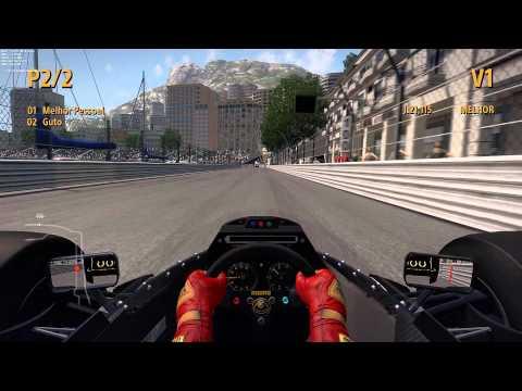 F1 2013 Gameplay PC - Monaco Classic Cars (Lotus 98T - 1986)