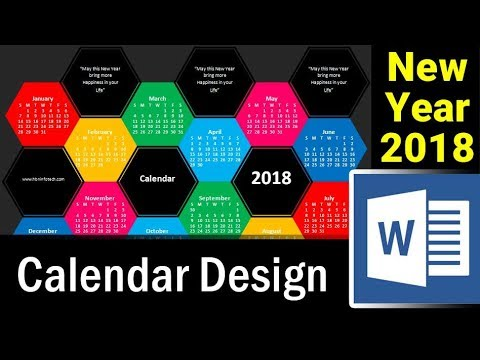 How to Design New Year Calendar 2018 in MS Word - Microsoft Word