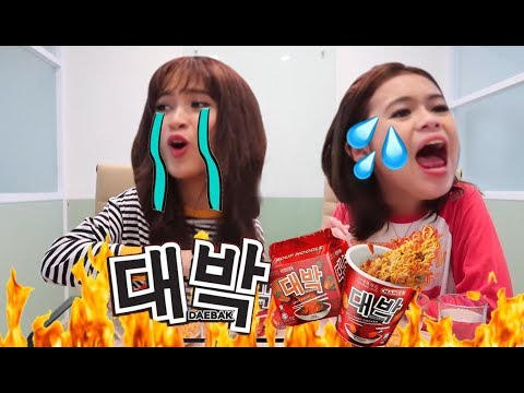 SPICY NOODLES TRY NOT TO CRY CHALLENGE | feat. CUPCAKE AISYAH