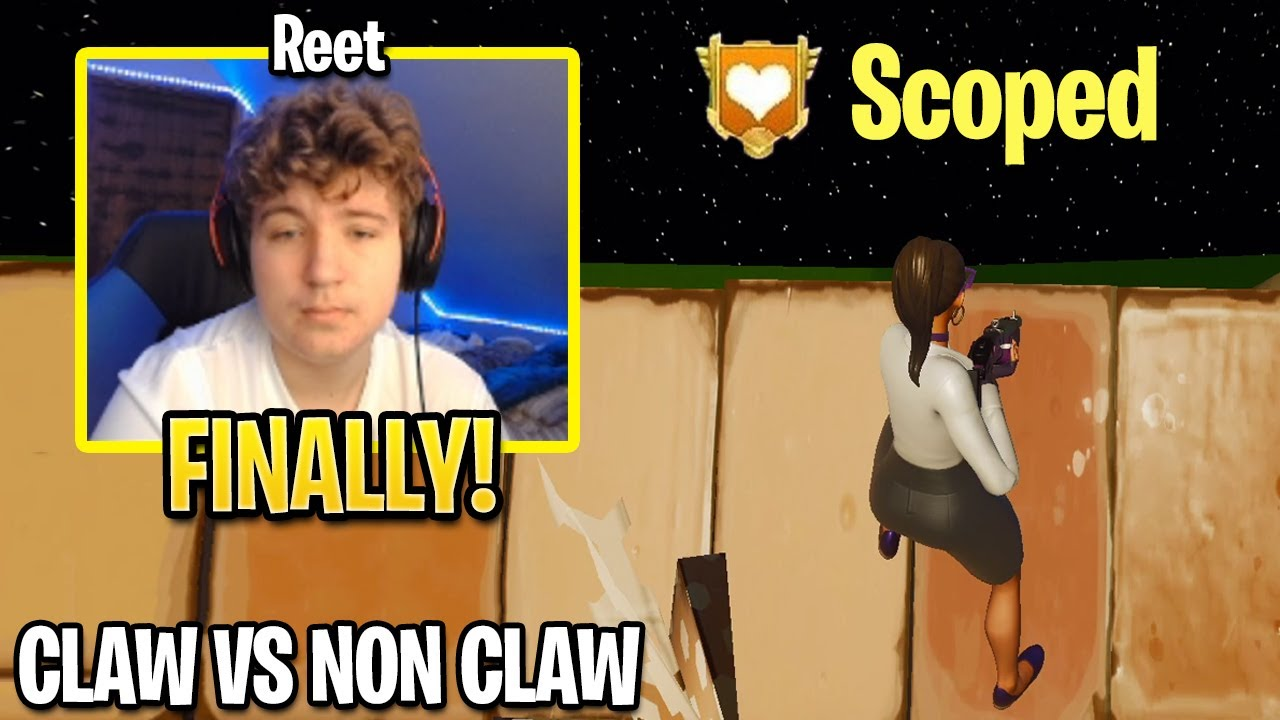 REET 1v1 SCOPED For The First Time in Fornite History! (CLAW vs NON CLAW)