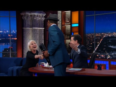 Helen Mirren Carnival Barks Jon Batiste (And Kisses Stephen Again)