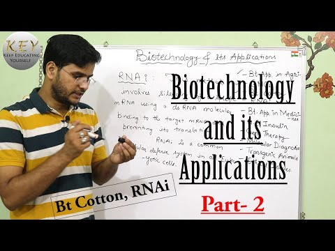 Biotechnology And Its Applications   Class 12 #NCERT Biology Part 2 In Hindi/اردو