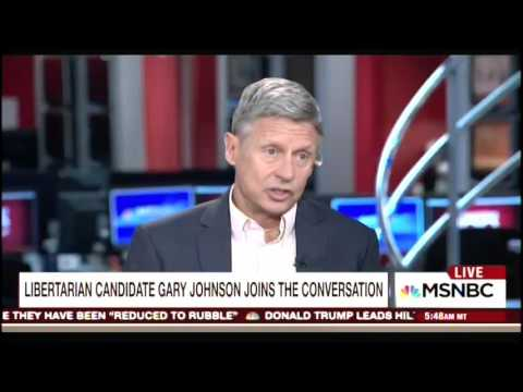 """""""What Is Aleppo?"""" Libertarian Candidate Gary Johnson Stumped By Syria Question"""
