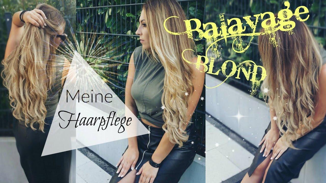 Balayage lange haare blond