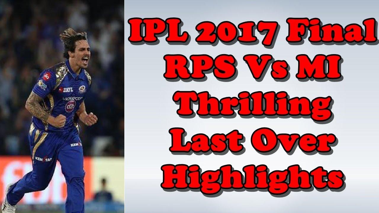 Download IPL 2017 Final RPS Vs MI Last Over Highlights   IPL 10 Final Mitchell Johnson Last Over Highlights