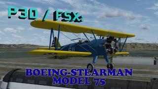 FSX / P3D Review - Golden Age Simulations Boeing-Stearman Model 75
