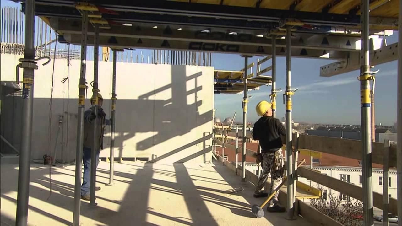 Concrete Floor Construction using Pre-assembled Table Forms