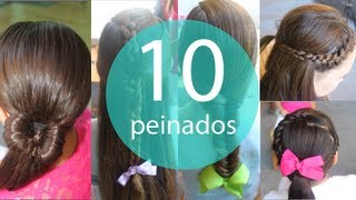 Peinados escolares para niña faciles