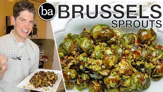 I Tested Claire & Christina's Glazed Brussels Sprouts: Bon Appétit Test #46