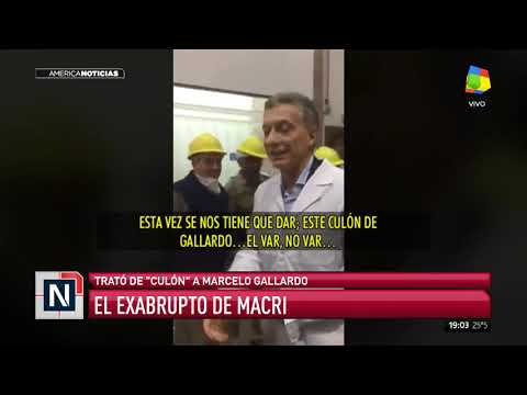 El exabrupto de Macri: trató de culón a Gallardo