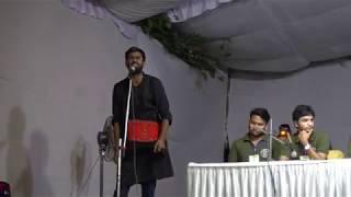 N Sai Balaji Left Unity  addressing the main speech at JNUSU Elections 2018 Presidential Debate