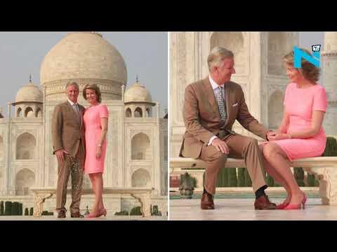 King Philippe, Queen Mathilde of Belgium visits Taj Mahal