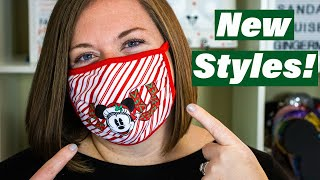 New Disney Face Masks Christmas and Mandalorian Styles PLUS New Face Mask Material