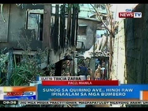 NTG: 1, sugatan sa sunog sa Paco, Manila