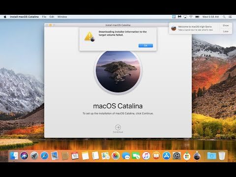 How To Solve Download Installer Information To The Target Volume Failed In Mac