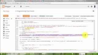 Adding adsense ad code in the middle of the content in blogger template