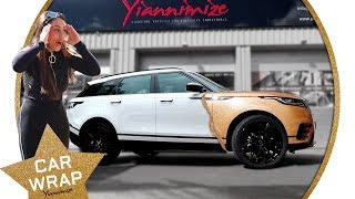 Geordie Shore's Sophie Kasaei Range Rover Velar wrapped Sparkly Gold