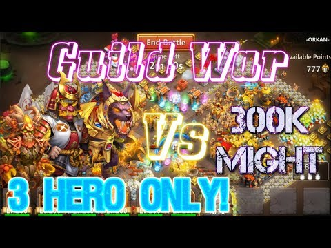 ONLY Ronin & Anubis & Treantaur VS 300KMight GUILD WAR - Castle Clash