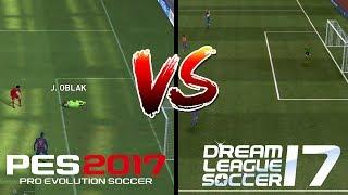 PES 2017 vs Dream League Soccer 2017 (Gameplay)