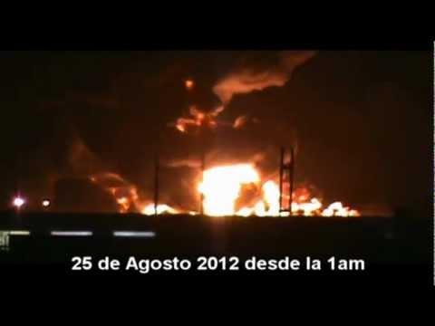 Explosión en refineria de Paraguana - onda expansiva Amuay(VIDEO Y AUDIO)