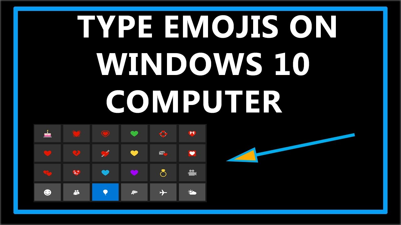 how to find emojis on windows 10