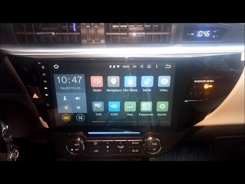 """Tüm Detaylarıyla 10.2"""" Android Multimedya Ekran Tanıtımı - Toyota Corolla E160"""