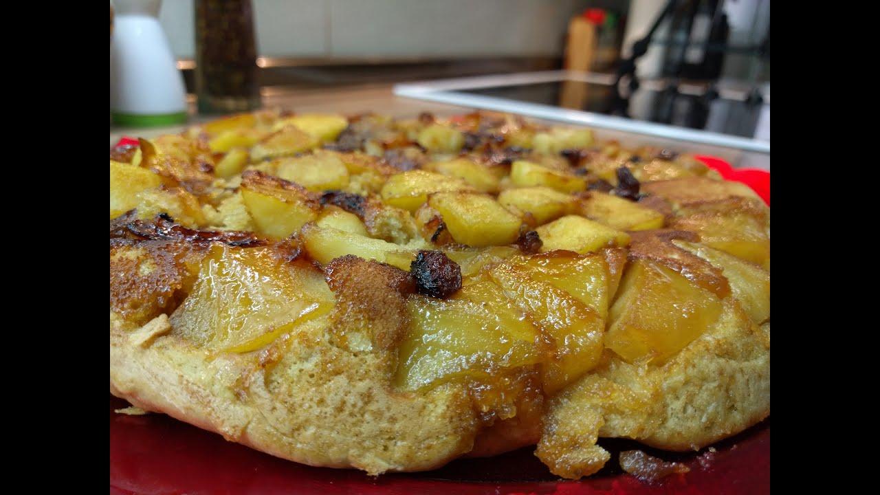 Bizcocho de manzana y canela en la sart n youtube for Bizcocho de manzana y canela