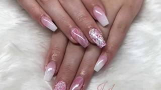 Quartz Nail Design | Acrylic Nails | All Powder | Not Polish
