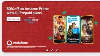 Amazon Prime on vodafone Recharge