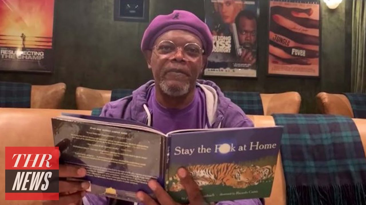 Watch Samuel L. Jackson Read 'Stay the F---' at Home' on 'Jimmy Kimmel Live!'   THR News
