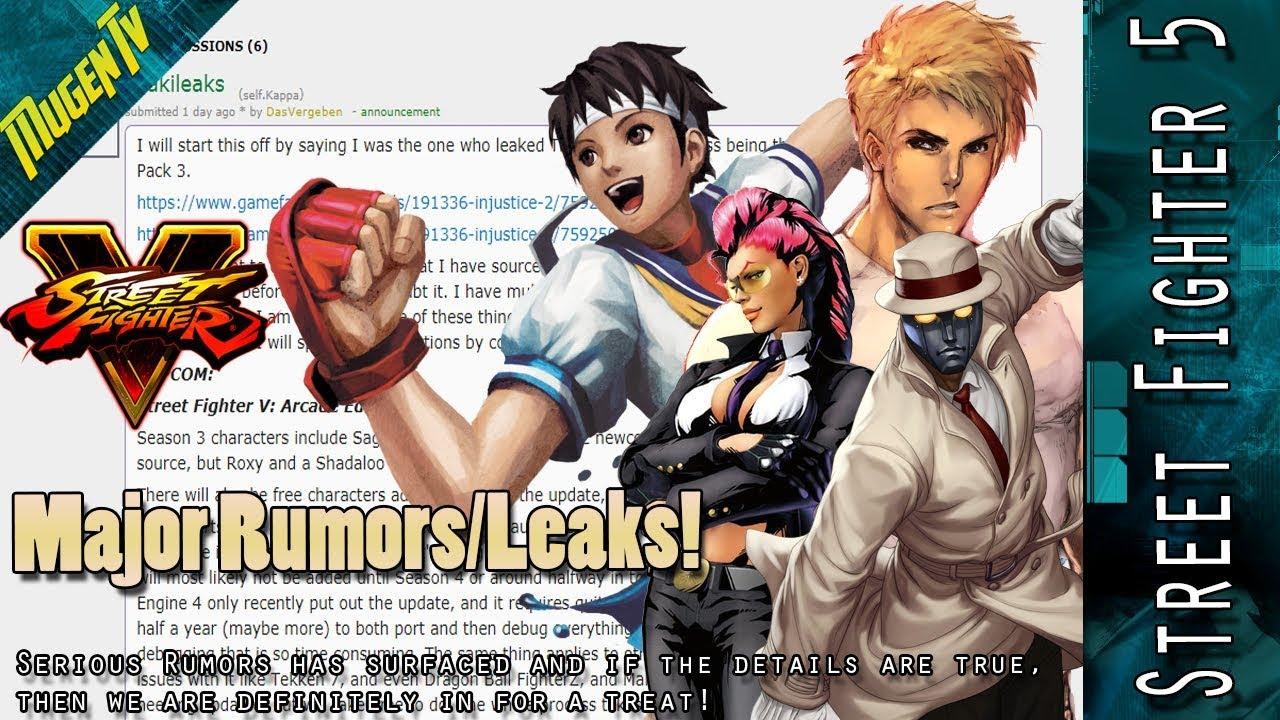Street Fighter 5 Ae Major Season 3 Character Leaks Rumors Youtube