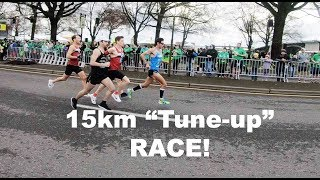VLOG: SUB 2:18 BOSTON MARATHON TRAINING: 15KM SHAMROCK RUN RACE! Sage Canaday