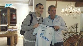 Момент дня на «Зенит-ТВ»: Паредес прибыл в расположение клуба