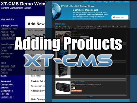 Add & Sell Products on your website with XT-CMS